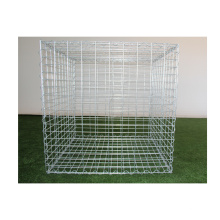 ISO Factory Prices galvanized 2mx1mx1m stone cage baskets gabion box gabion wire mesh hexagonal wire mesh for sale