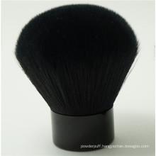 Black Synthetic Hair and Metal Hand Kabuki Makeup Brush