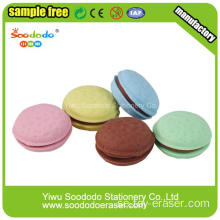 Promotional Bun Shaped Stationery Eraser med mat form