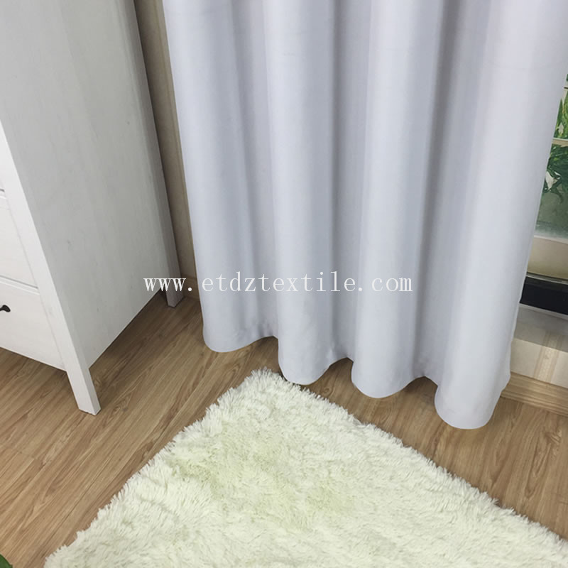 Polyester Plain Hotel Curtain Blackout