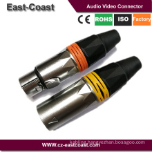 New design 3Pin XLR male female microphone cable audio connector