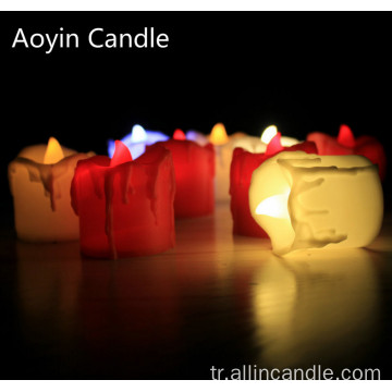 Pille Çalışan Tealight Alevsiz Led Tealight Set