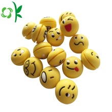 3D Sphere Emoji Tennis Dampeners Silicone Vibration Stopper