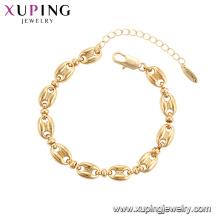 75784 Xuping bijoux plaqué or élégant style de luxe femmes Bracelet de mode