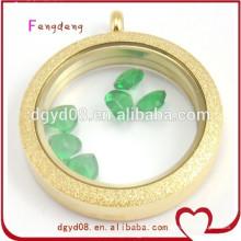 Hot accessoires de mode filles or couleur médaillon pendentif collier pendentif