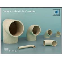 Ceramic of sprue bend tube casting