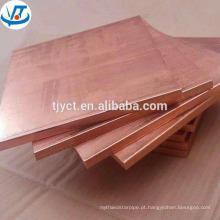 Folha de cobre macio / dura tempero boa qualidade 1mm placa de cobre