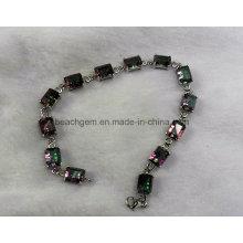 Moda pulseira de joias de prata quartzo místico (BR0042)