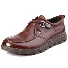As melhores sapatas de couro dos homens superiores brandnew superiores do desenhador da fantasia do italiano