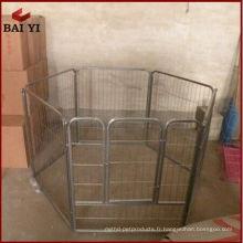 Grande cage de chien en acier de haute qualité, cage de chien en acier galvanisé, cage de chien de 6ft