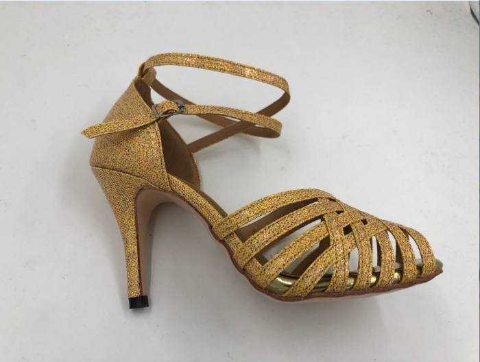 Gold Latin Shoes For Ladies