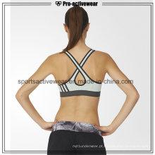 OEM Hot vendendo mulheres de moda Push Up sem costura Cross Sutiã Sport Voltar