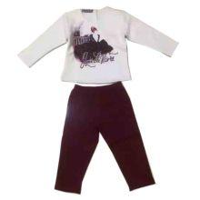 Moda bebé desgaste traje pijamas en ropa de noche niños Sq-17111