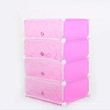 Printing DIY Plastic Folding Storage Wardrobe Armoires pour la maison (ZH0022)