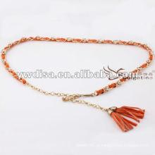 Cintura de las mujeres de la manera en la PU con el mejor diseño de la borla de YIWU DISHA