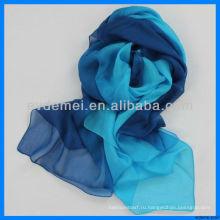Горячий продавать цветной цифровой печатный шелковый шарф