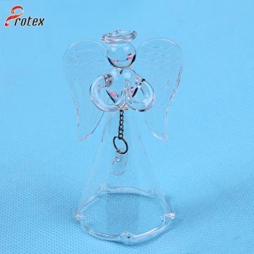 Cristal transparent en verre soufflé à la main pour décoration