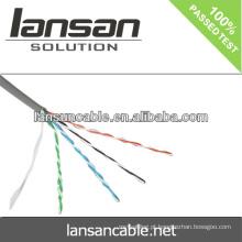 Cat5e cabo CCA 4pair 26AWG cabo de rede 0.4mm melhor qualidade e preço de fábrica