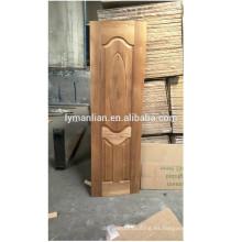Proveedor de China tallado en madera moldura moldura lowes piel de puerta barata