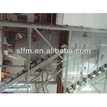 Linha de produção de resíduos de fermentação