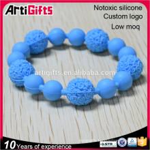 Fashion bead bracelet jewelry elastic faceted silicone elegant bead bracelet