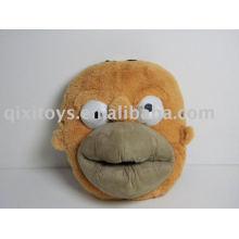 stuffed plush monkey indoor shoes, soft kid's animal slipper toy
