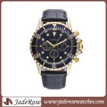 Relógio de pulso de venda quente dos homens da liga com faixa da liga ou faixa do couro genuíno