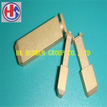 Hot Sale UK Typ Pin Einsätze, Messing mit Nickel Beschichtung (HS-UK-001)