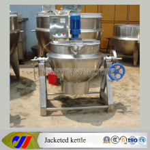 Gas Heating Jacket Cooking Kettle with Scraper Agitator