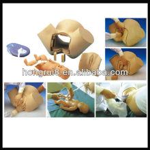 Simplicateur d'accouchement avancé ISO, femme enceinte et modèle de bébé