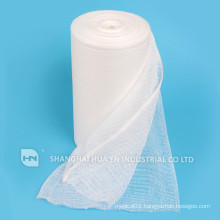 Medical 100% cotton yarn sterile absorbent gauze roll