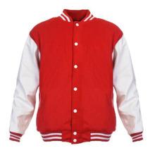 Hommes Femmes Plaine Varsity Baseball Jacket Coat College Casual Sweater Sports Tops