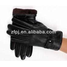 2016 neue Stil schwarz fahren Leder Handschuh für Herren