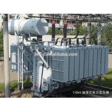Three phase oil immersed type copper winding wound core low loss 35kv 66kv 110kv 132kV 220kV 28mva power transformer