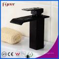 Black Orb Waterfall Basin Faucet Mélangeur de robinet d'eau de salle de bains (Q3003B)