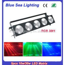 2015 hotsale 5pcs x 10w led beam matrix