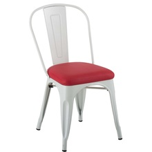 Maria Restaurant Metal Tolix Chair Dengan Soft Pad