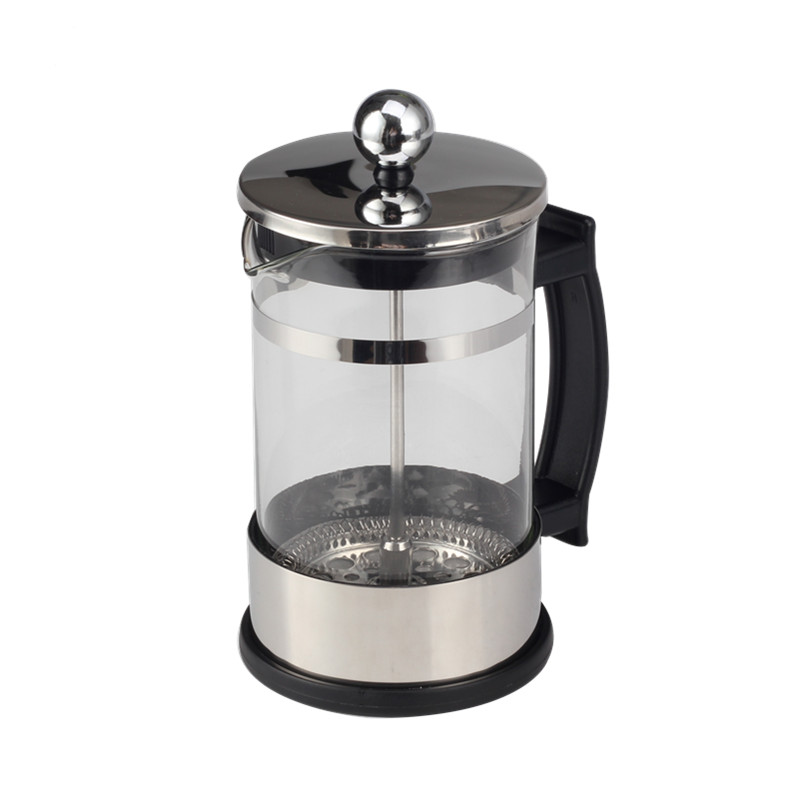 1l Silver Glass French Press Coffee Maker