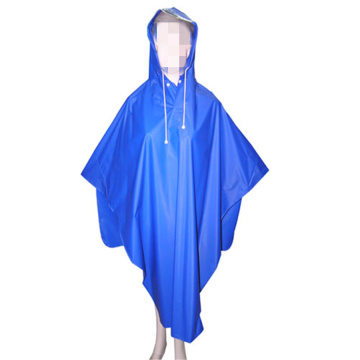 Lady Blue PVC wasserdichte Poncho Windjacke