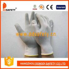 White Nylon Grey Latex Glove Dnl218