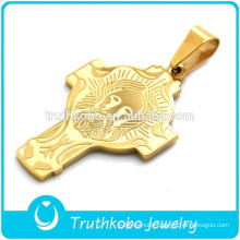 2016 Fashion jewelry trend gold cross pendant with jesus high-end manufacturing jesus gold cross necklace pendant