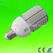Diffuseur de haute qualité à chaud 201 leds 12-24V 12V e27 e26 solaire 10-11w 10w a conduit la lumière de maïs 120lm / w