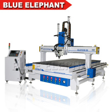 Multi Heads Three Spindles ele 1530 Cnc Router Machines Equipos de muebles con Rotary