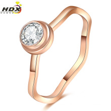 Fashion Women Jewelry Stainless Steel Ring with Diamonds ((hdx1066)
