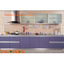 Modern professional cheap restaurant 304# stainless steel Commercial Kitchen pantry Cabinet made in china
