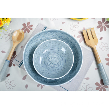 Custom Design Steinzeug Geschirr Food Grade Keramikschale Set