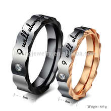 Cheap custom his and hers promise black wedding bands rings,personalized couple ring jewelry