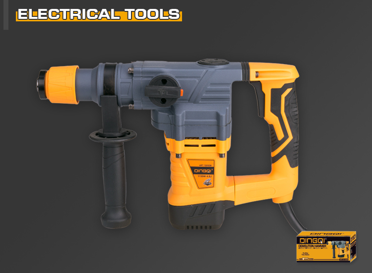 DingQi New Design Wholesale Portable 1500W Cordless 32mm Electric Rotary Hammer Drill