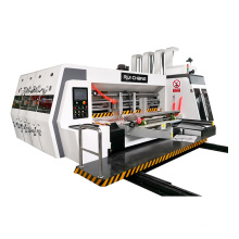 Carton Box Packing Corrugated Cardboard 3 Color Printing Rotary Slotter  Die Cutting Machine