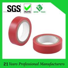 Fita adesiva adesiva vermelha da isolação do PVC de 15mm